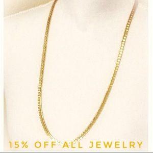 🆕 MONET Long Gold Flat Box Link Necklace  BNWOT